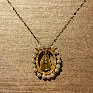 Jewelry - Religious, Virgin Pendant, S925 & gold plated